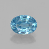 thumb image of 1.3ct Oval Facet Blue Zircon (ID: 459525)
