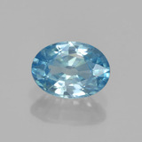 thumb image of 1.2ct Oval Facet Blue Zircon (ID: 459603)