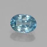 thumb image of 1.3ct Oval Facet Blue Zircon (ID: 459604)