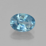 thumb image of 1.2ct Oval Facet Blue Zircon (ID: 459663)