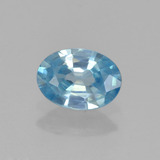 thumb image of 0.9ct Oval Facet Blue Zircon (ID: 459664)