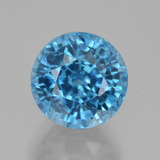 thumb image of 5.2ct Round Facet Blue Zircon (ID: 459805)
