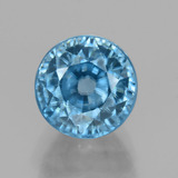 thumb image of 5ct Round Facet Blue Zircon (ID: 459868)