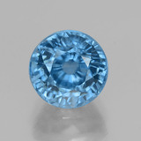 thumb image of 4.7ct Round Facet Blue Zircon (ID: 459869)