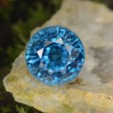 thumb image of 4.4ct Round Facet Blue Zircon (ID: 459873)