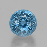 thumb image of 4.6ct Round Facet Blue Zircon (ID: 459875)