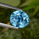 thumb image of 3.1ct Oval Facet Blue Zircon (ID: 466822)
